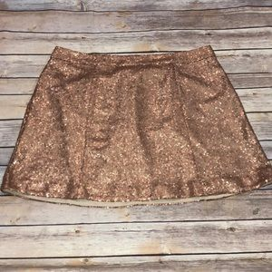 Perfect Condition Gold Sequin Skirt